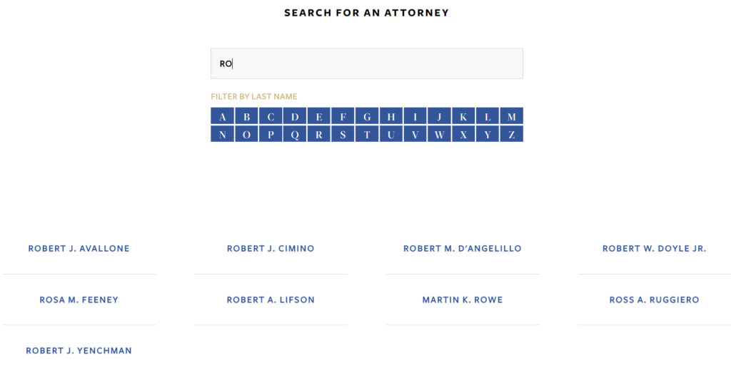 search for attorney